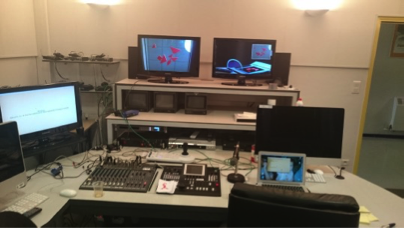 Photo de la salle des expérimentateurs (TangrIAm, 2015)